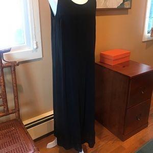 Eileen Fisher black silk Medium dress